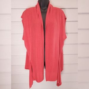 Tommy Bahama Relax Coral Linen Open Cardigan